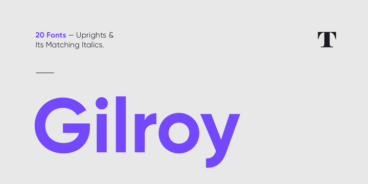 winter brand personality font: GILROY