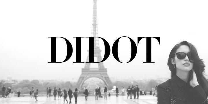 Winter brand personality font: DIDOT