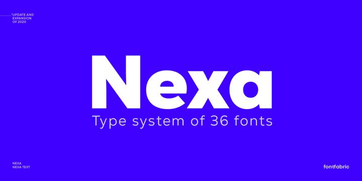 winter brand personality font: NEXA