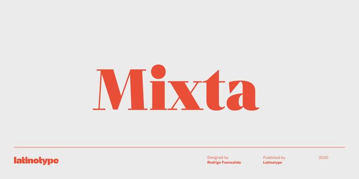 Winter brand personality font: MIXTA