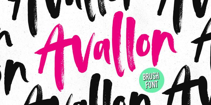 winter brand personality font: AVALLON