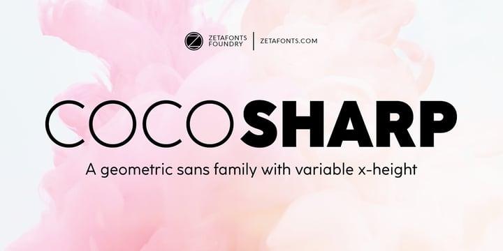 winter brand personality font: COCO SHARP