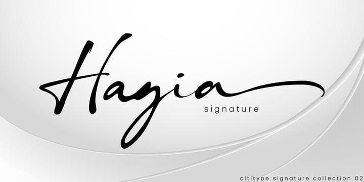 Hagia Signature Font Poster 2