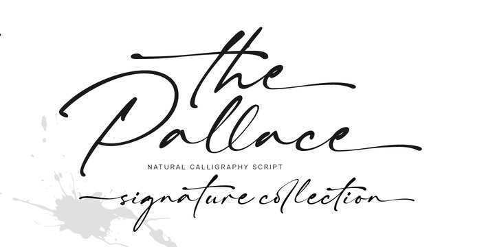 winter brand personality font: THE PALLACE