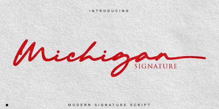 Michigan Signature Font Poster 2