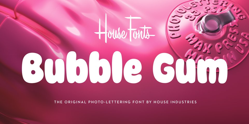 Plinc Bubble Gum font page