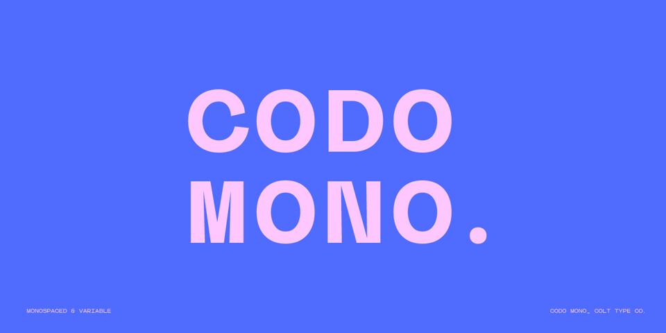 Codo Mono font page
