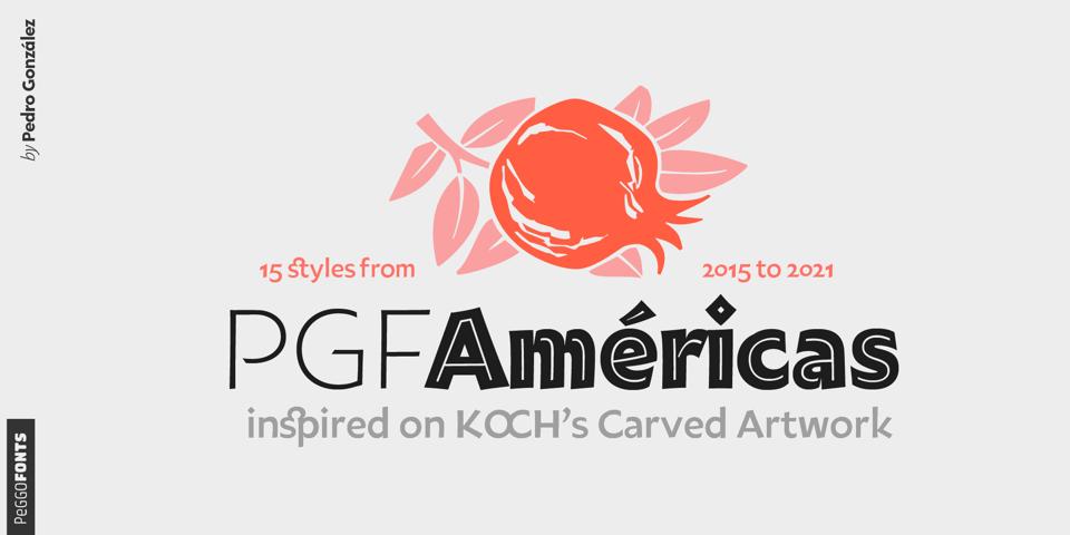 PGF Americas font page