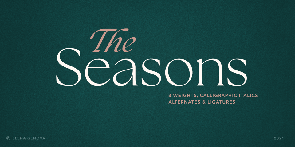 The Seasons font page