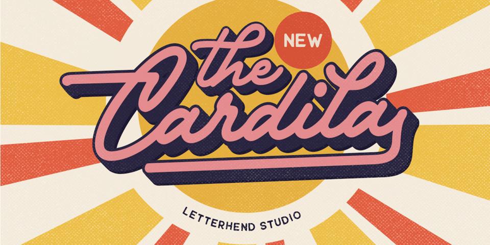 Cardila font page