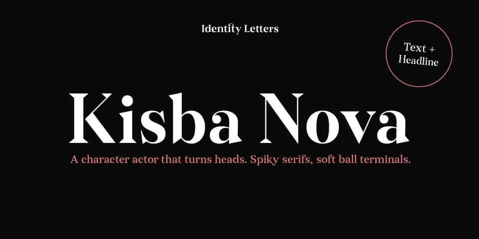 Kisba Nova font page