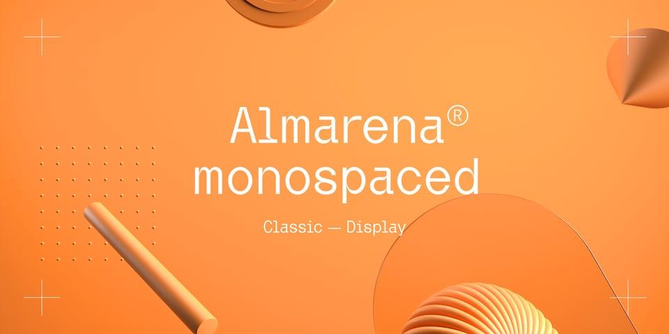 Almarena Mono font page