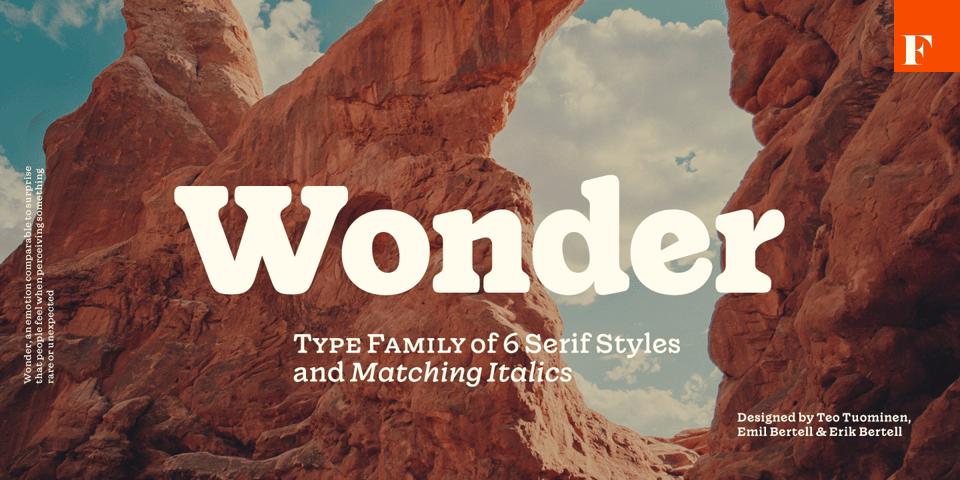 Wonder font page