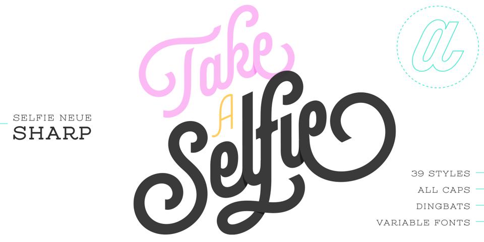 Selfie Neue Sharp font page