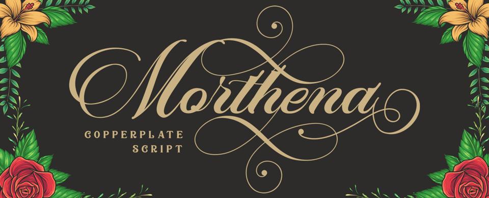 Morthena font page