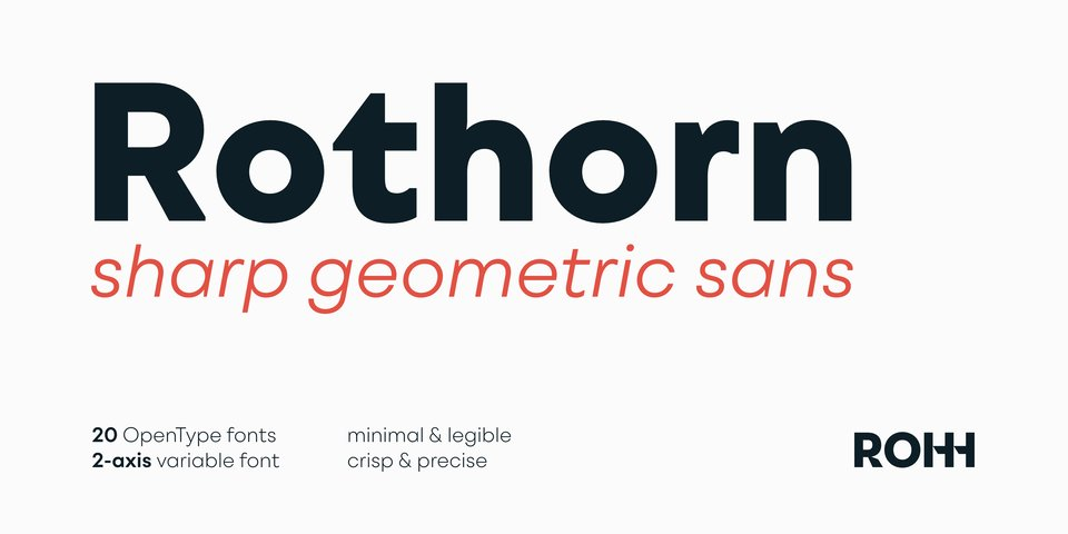 Rothorn font page