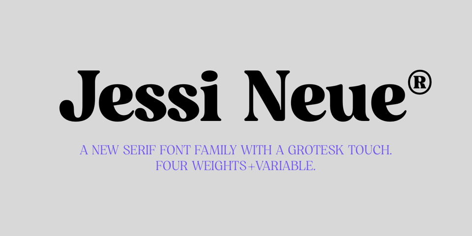 Jessi Neue font page