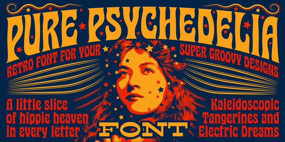 Pure Psychedelia font page