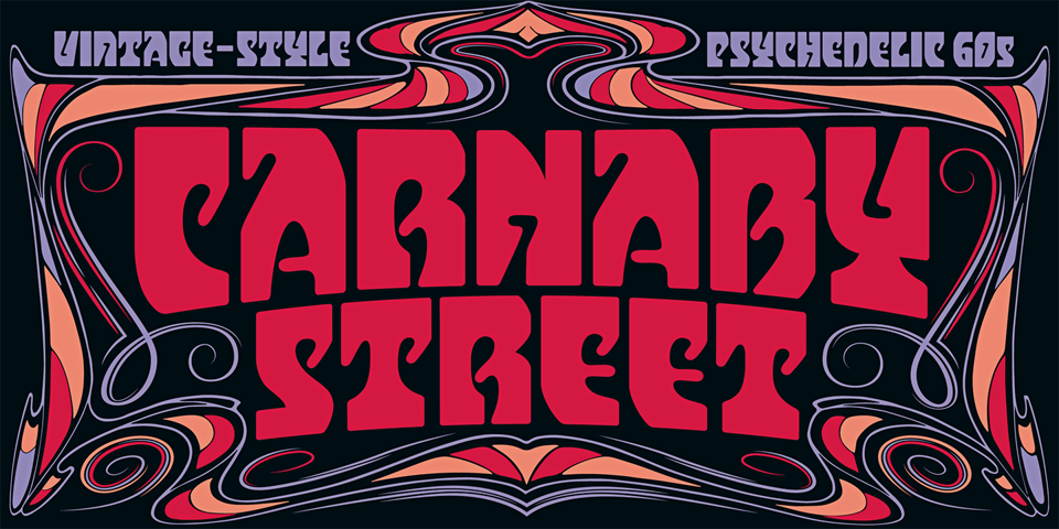 Carnaby Street font page