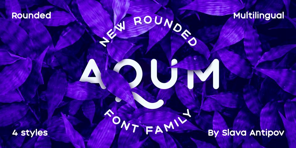 Aqum Two font page