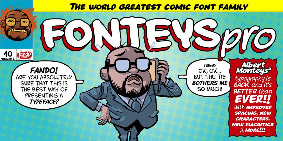 Fonteys Pro font page