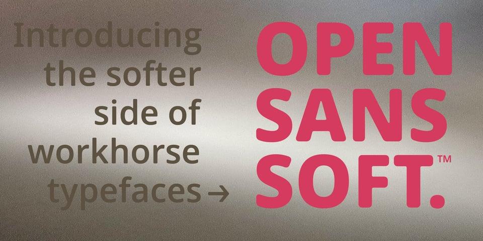 Open Sans Soft font page