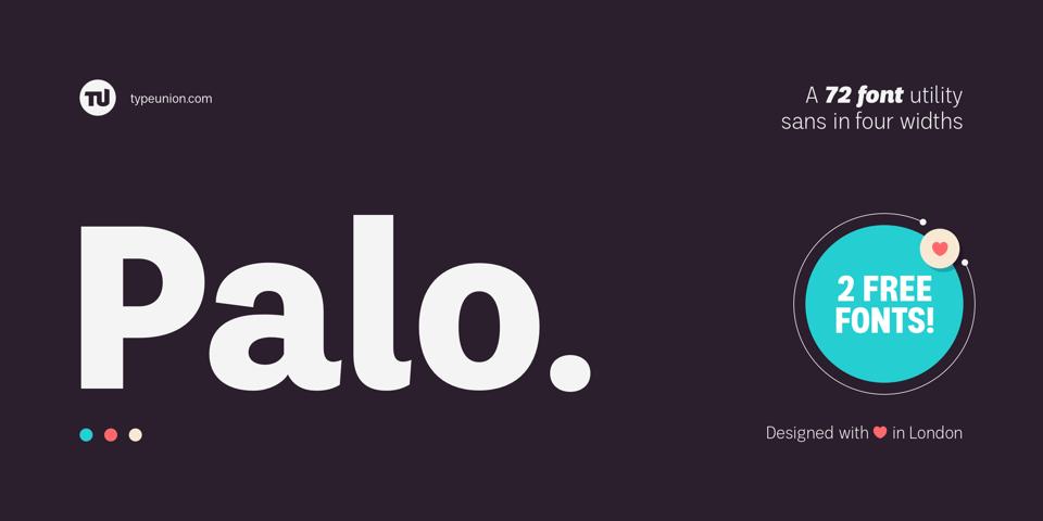 Palo font page