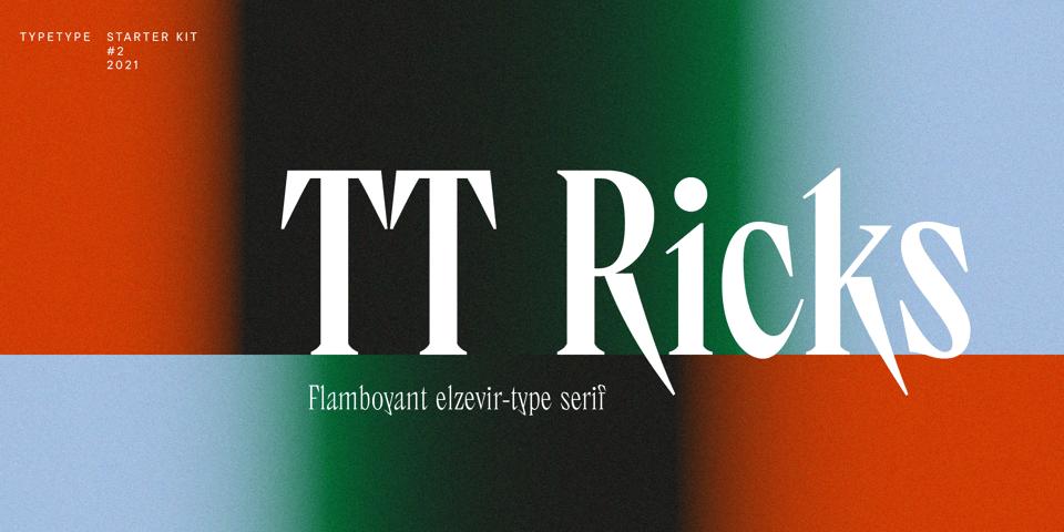 TT Ricks font page