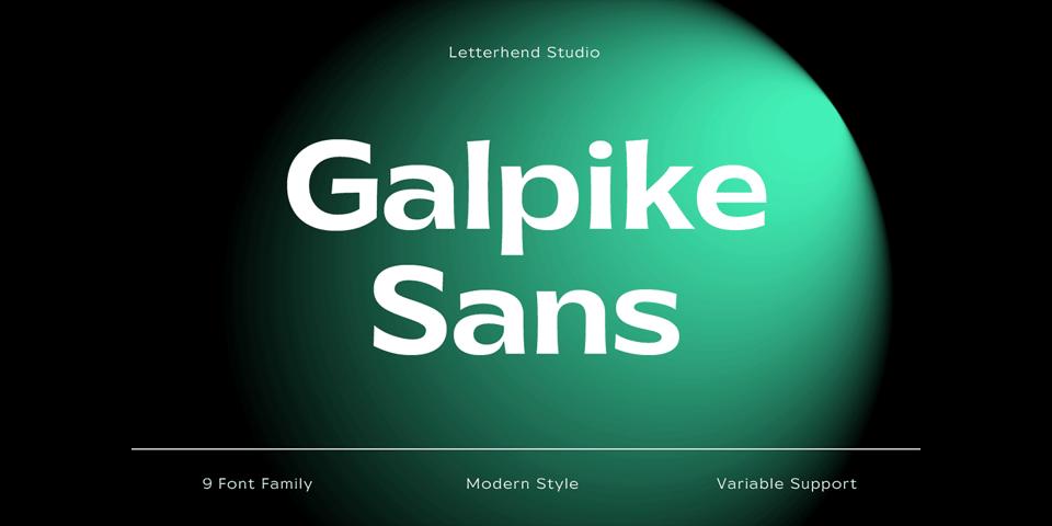 Galpike font page