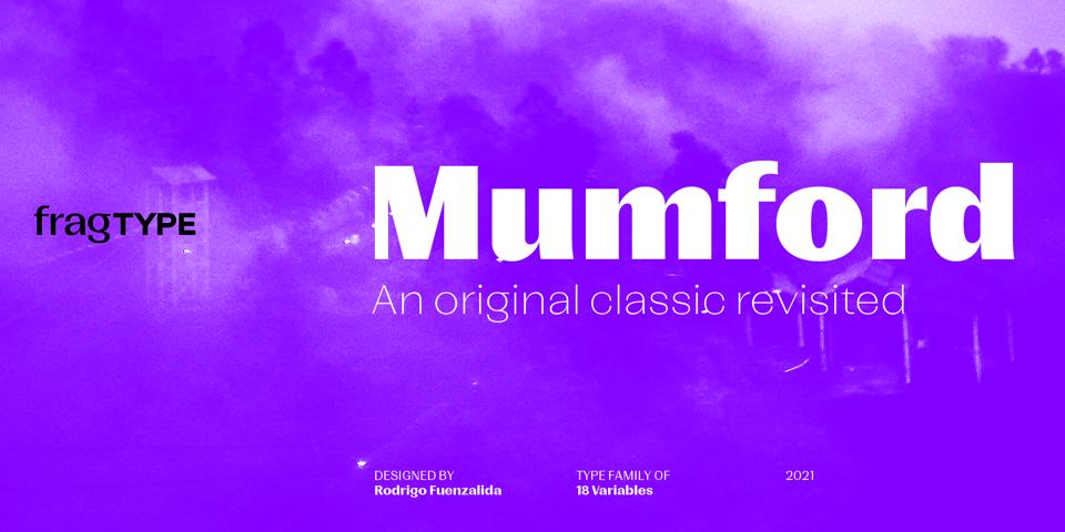 Mumford font page