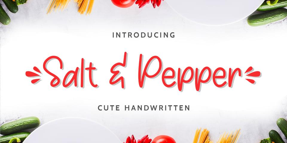 Salt & Pepper font page