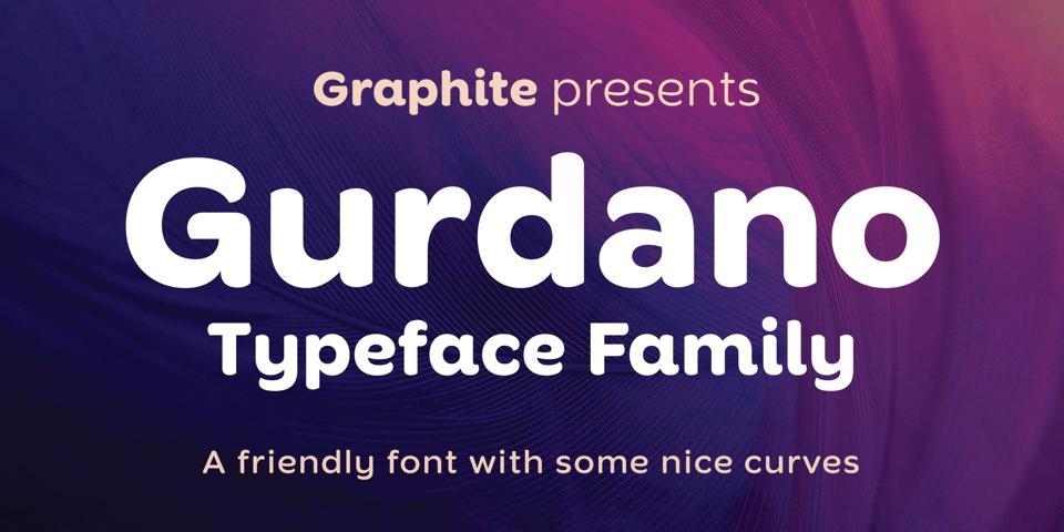 Gurdano font page