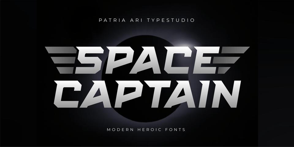 Space Captain font page