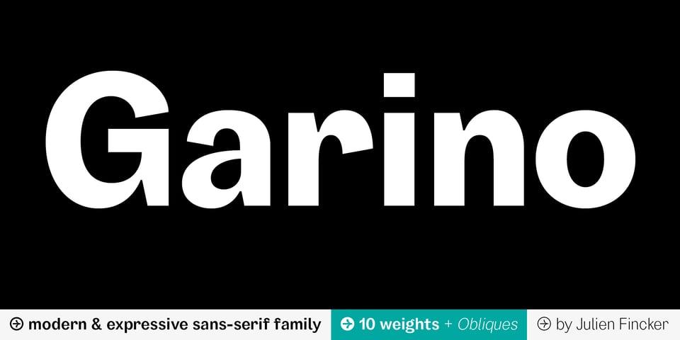 Garino font page