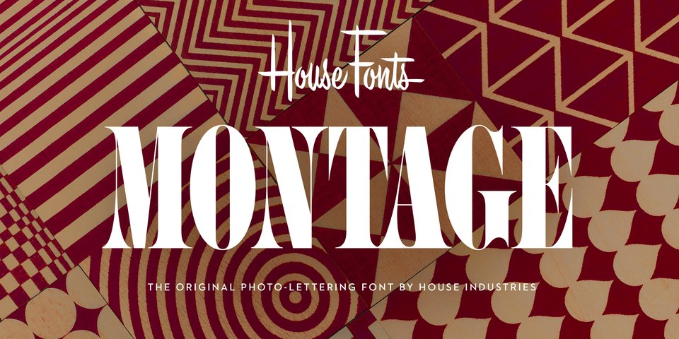 Montage font page