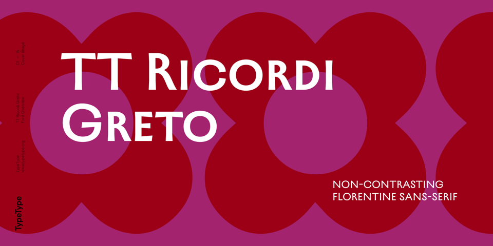 TT Ricordi Greto font page
