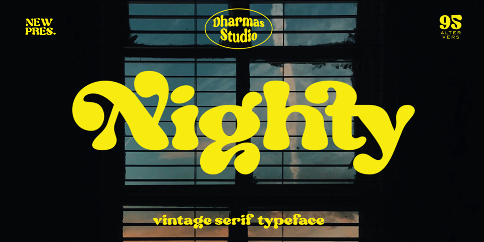 Nighty font page