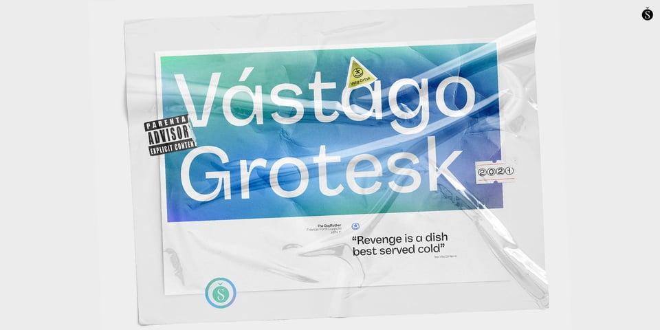 Vastago Grotesk font page