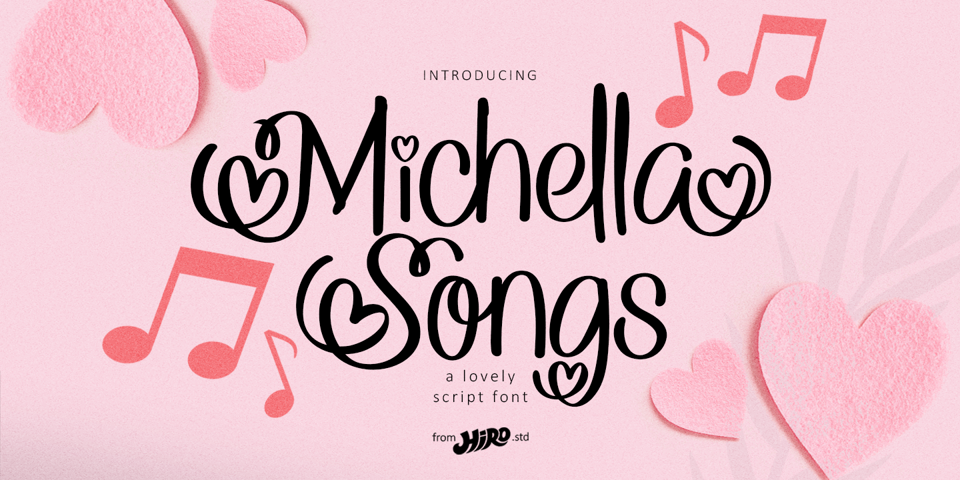 Michella Songs font page