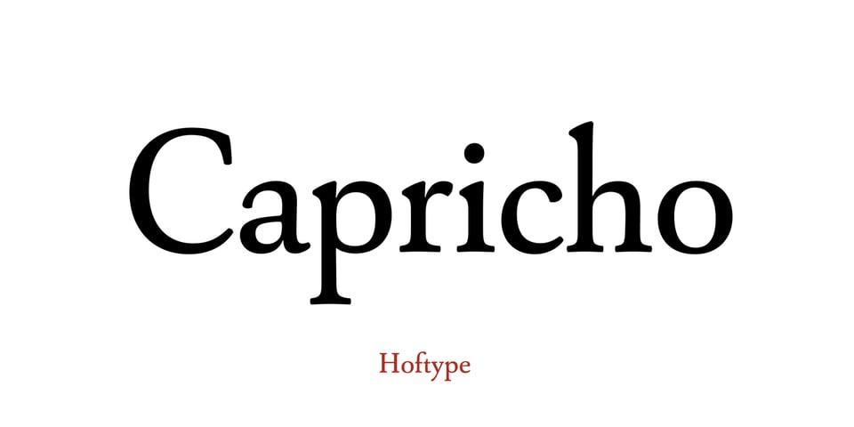 Capricho font page