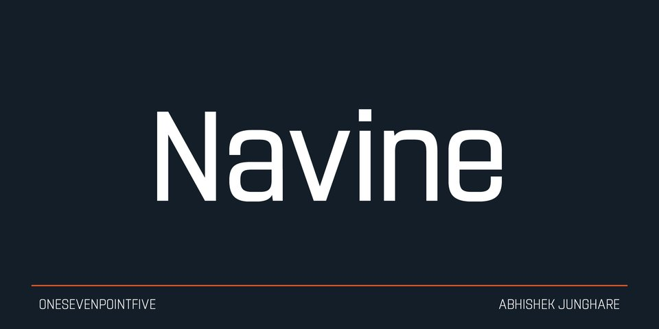 Navine font page