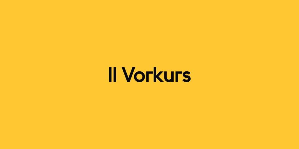 II Vorkurs font page
