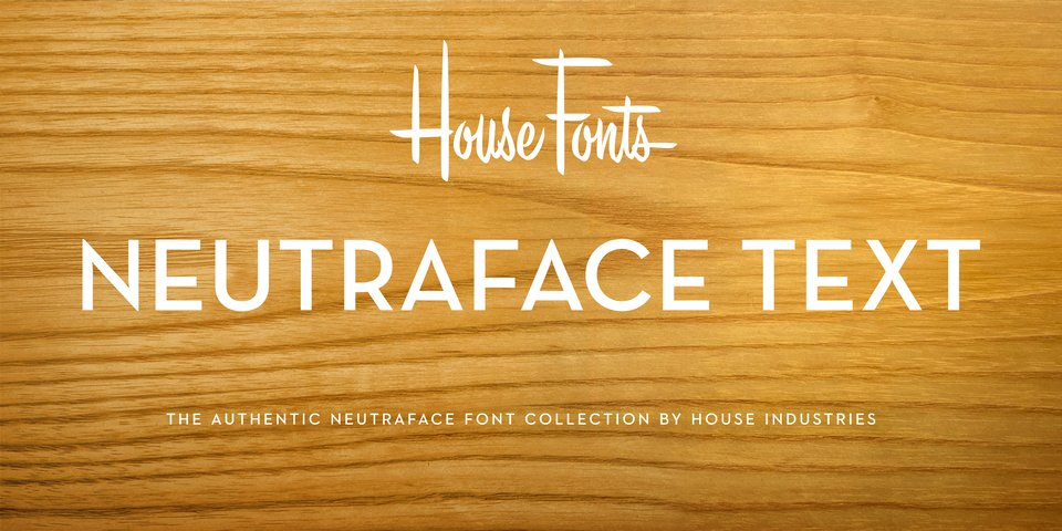 Neutraface Text font page