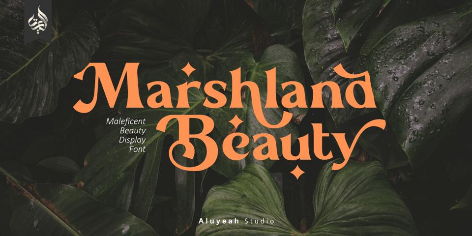 Al Marshland Beauty font page