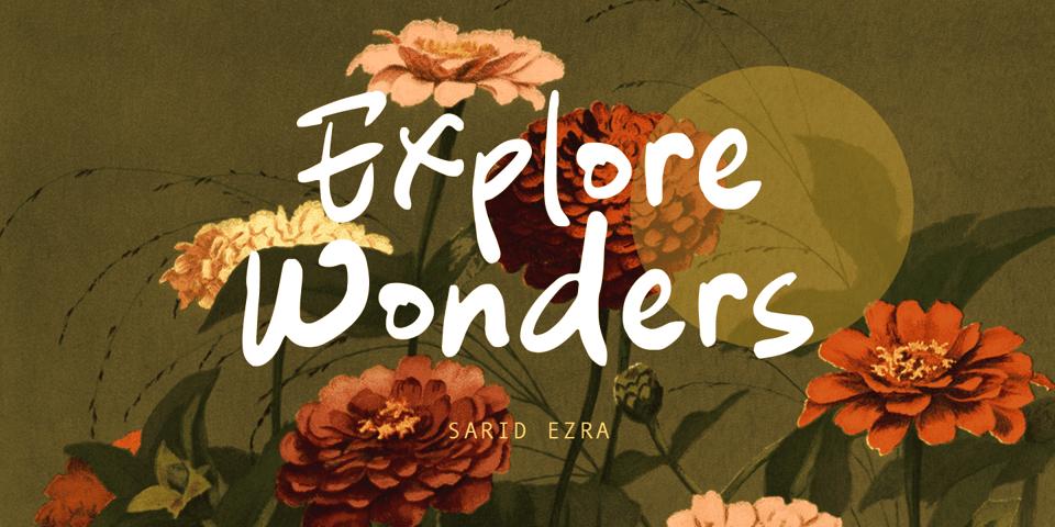 Explore Wonders font page