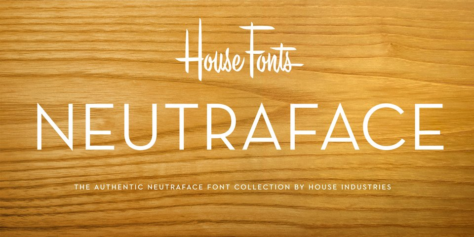 Neutraface Display font page