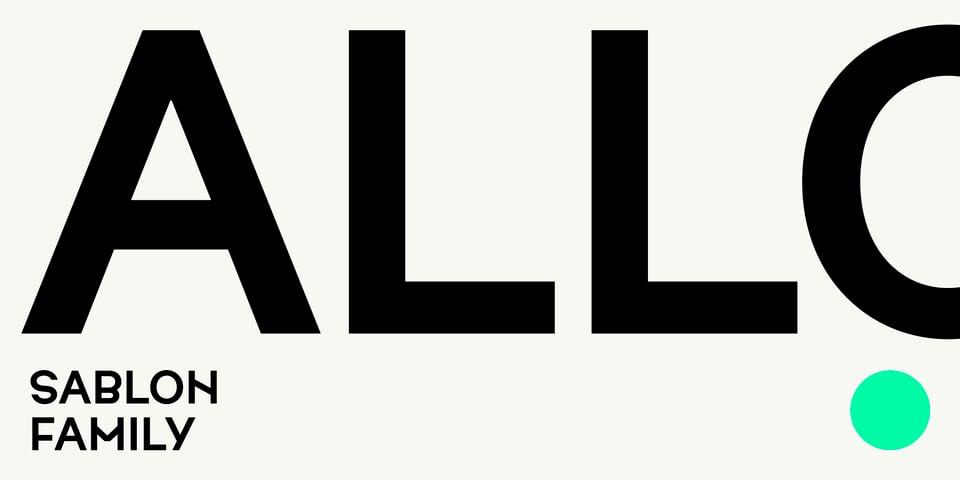 Sablon font page