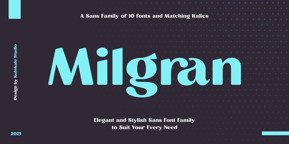 Milgran font page