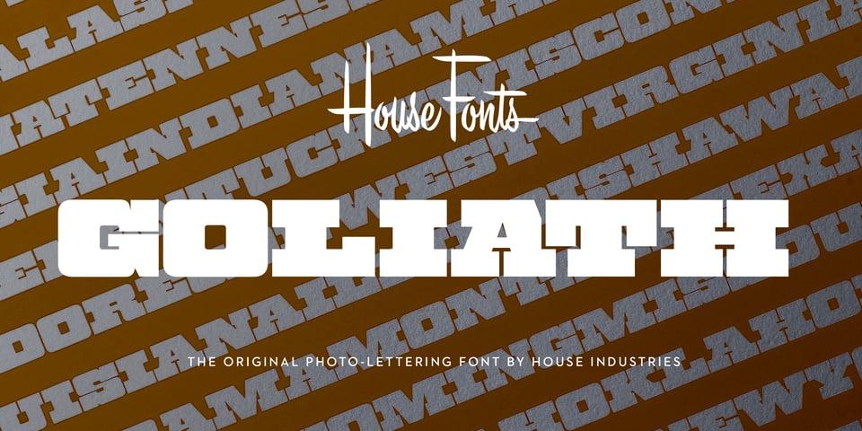 Plinc Goliath font page