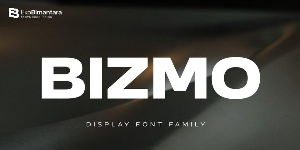 Bizmo font page